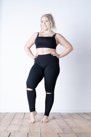Split Knee Leggings Front
