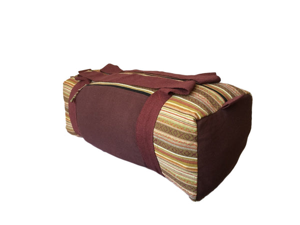 Handmade Nepali Nepalese Brown Yoga Holdall Bag