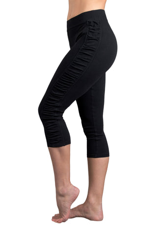 Deluxe Cotton Yoga Capris Leggings