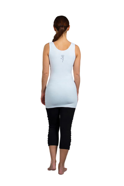 Long Cotton Yoga Vest