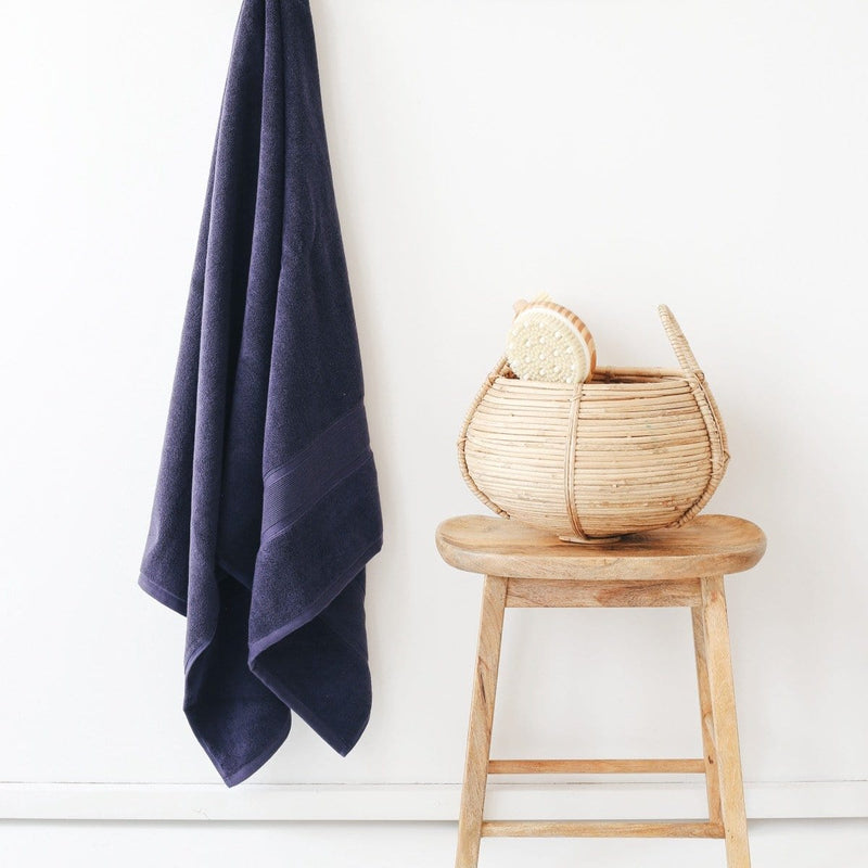 Luzia Navy Blue Bath Towel