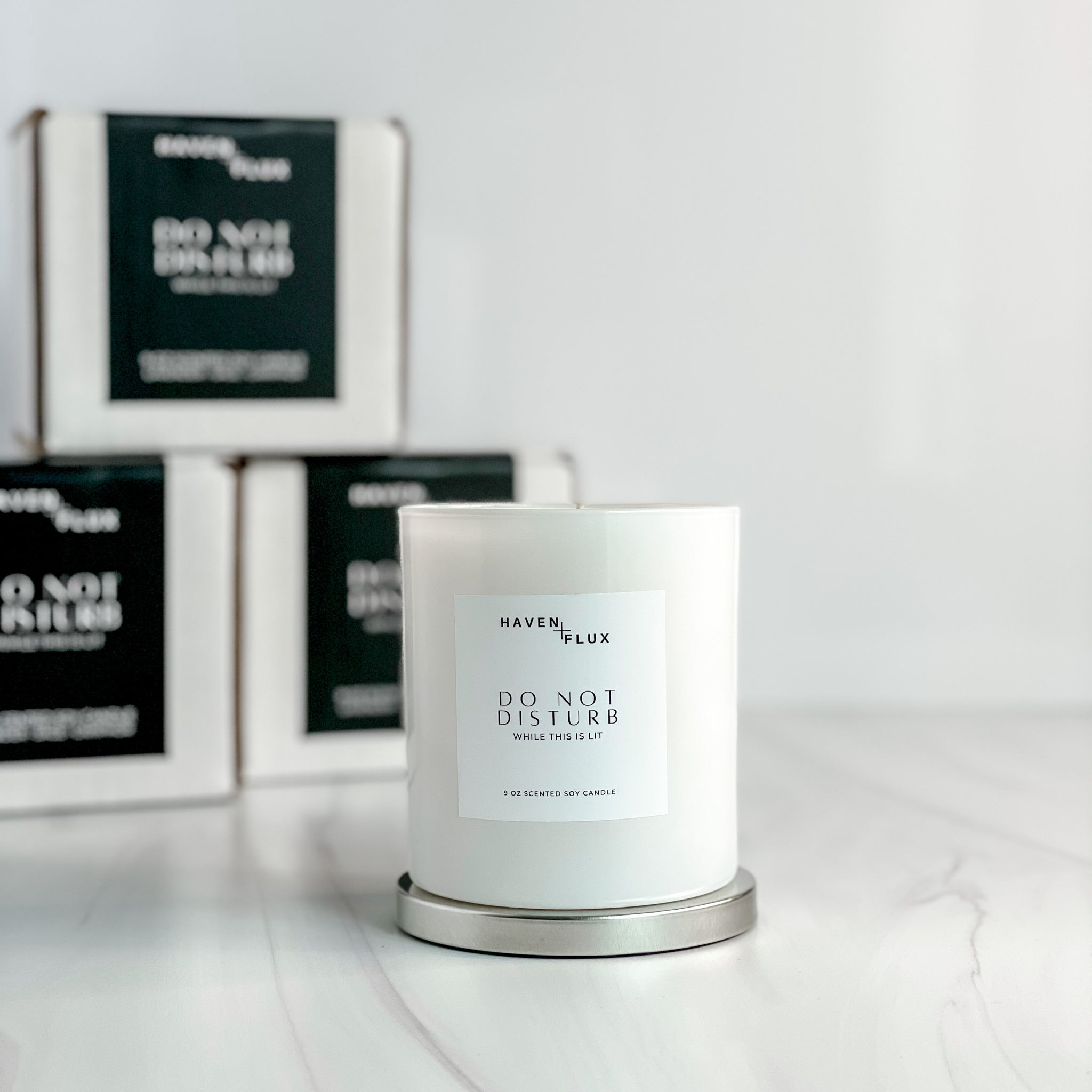Do Not Disturb Luxury Coconut Soy Intention Candle