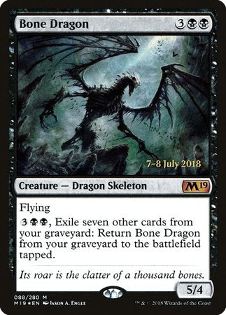 Bone Dragon [Core Set 2019 Promos] | North of Exile Games