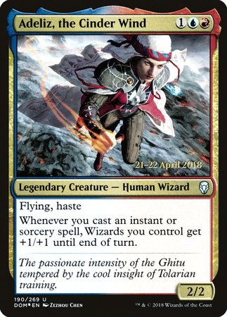 Adeliz, the Cinder Wind [Dominaria Promos] | North of Exile Games