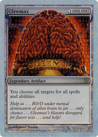 Gleemax (Alternate Foil) [Unhinged] | North of Exile Games