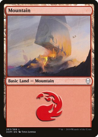 Mountain (263) [Dominaria] | North of Exile Games