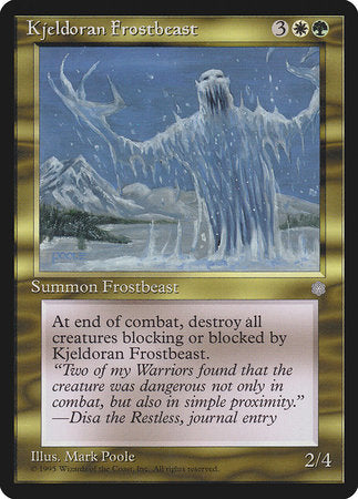 Kjeldoran Frostbeast [Ice Age] | North of Exile Games