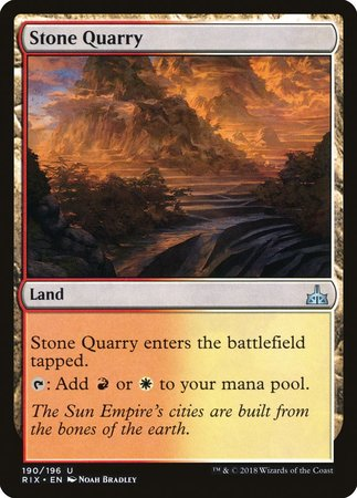 Stone Quarry [Rivals of Ixalan] | North of Exile Games