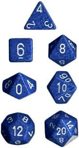 Water Speckled 7 Dice Set - CHX25306 | North of Exile Games