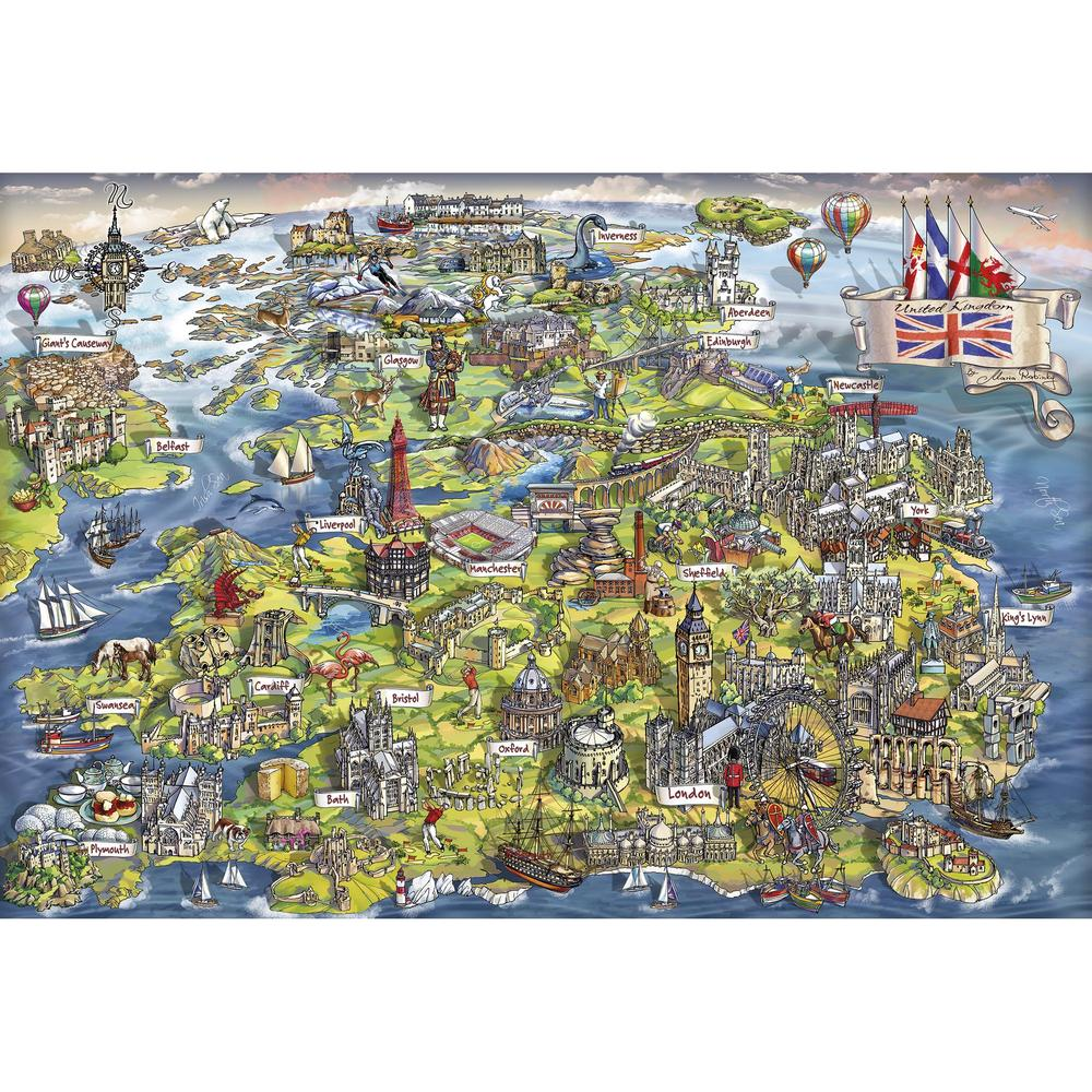 Puzzle - 500 pcs - Beautiful Britain | North of Exile Games