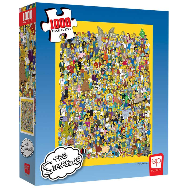 Puzzle - 1000 pcs - The Simpsons - Cast of Thousands | North of Exile Games