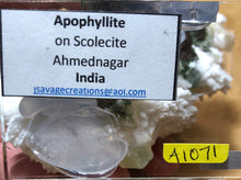 Load image into Gallery viewer, Apophyllite on Scolecite