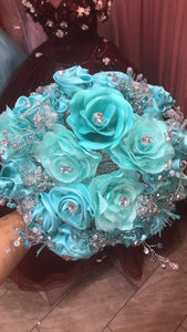 Satin Jewel Bouquet