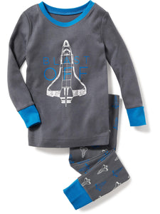 2-Piece Spaceship-Graphic Sleep Set