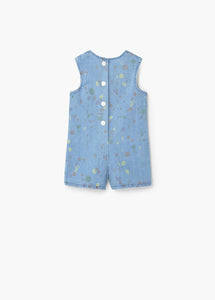 Paint drop denim dungarees