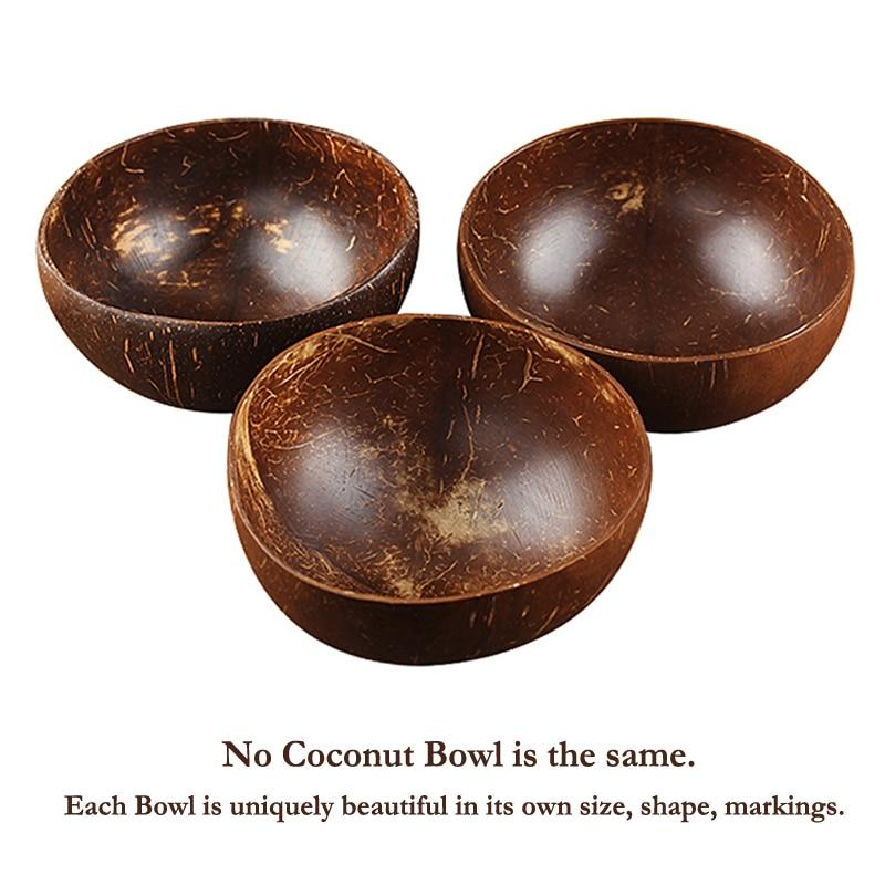 No Two Coconut Bowls are the same, with different shapes and markings