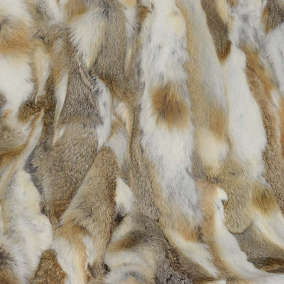 Natural Rabbit Fur Throw