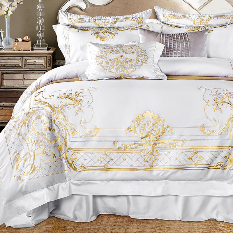 Ivy Gold Duvet Cover Set (Egyptian Cotton)