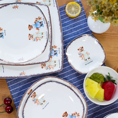 Teddy Tableware 25pcs set | Bone China