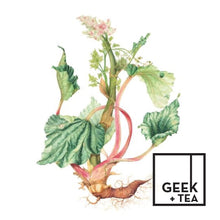 Load image into Gallery viewer, Sweet Rhubarb Ginger Tea | Organic Loose Leaf Black Tea | Rhubarb and Ginger