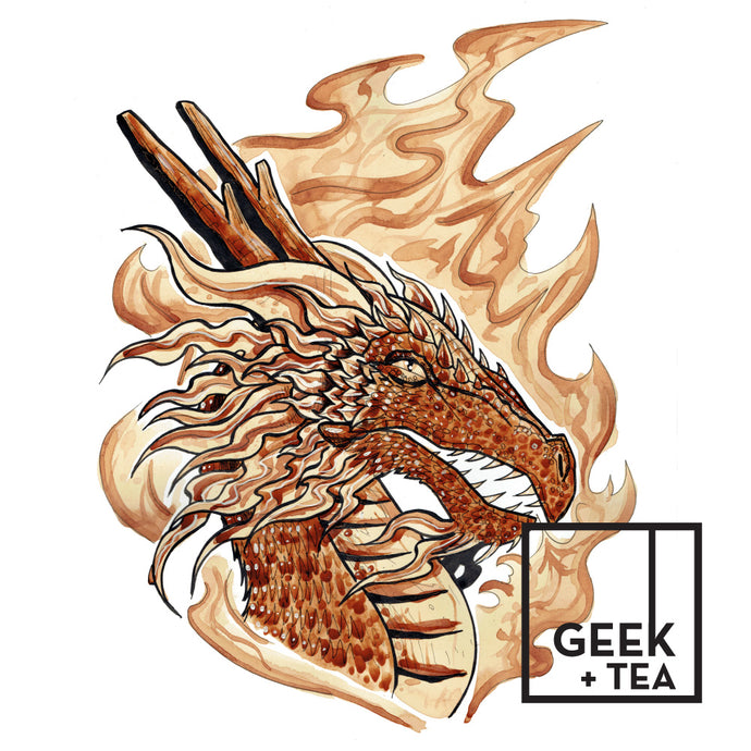 Dragon Fire  | Organic Loose Leaf Herbal Tea | Rooibos and Peppermint