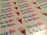Text Based Lip Gloss Labels (Clear Gloss Only)