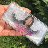 Clear Eyelash Labels for 4 x 2 inch Cases