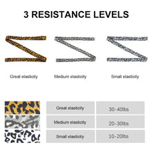 Load image into Gallery viewer, Leopard Print Fabric Resistance Bands