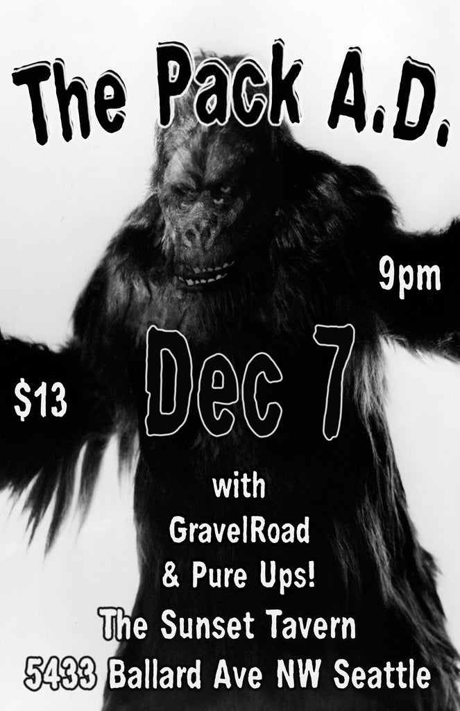 GravelRoad (supporting The Pack A.D.) at The Sunset Tavern in Seattle December 7