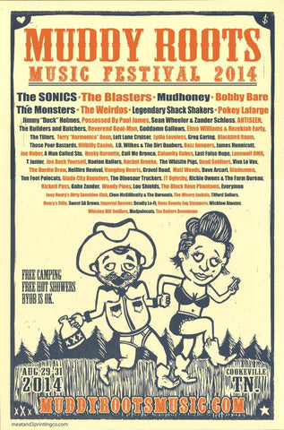 Muddy Roots Music Festival, GravelRoad, Mudhoney, The Blasters, The Sonics, Knick Knack Records