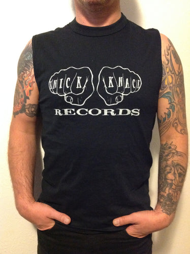 Knick Knack Records 12 Fingers of Doom mens muscle t-shirt