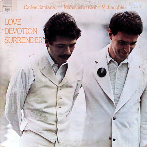 Carlos Santana and John McLaughlin Love Devotion Surrender - vinyl LP