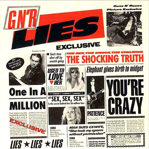 Guns N' Roses Lies - compact disc