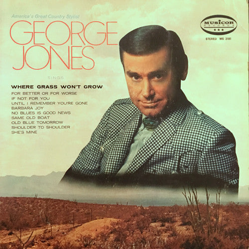 George Jones sings Where Grass Won't Grow - vinyl LP