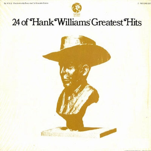 Hank Williams 24 of Hank Williams' Greatest Hits - vinyl LP