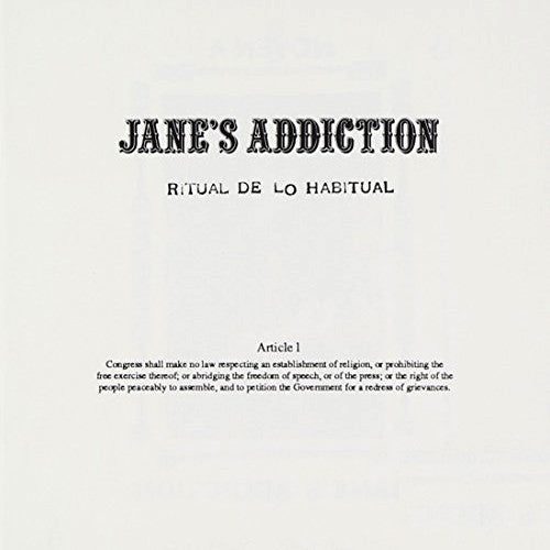 Jane's Addiction Ritual De Lo Habitual - cassette