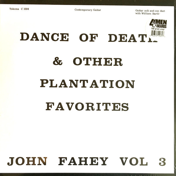 John Fahey Dance of Death & Other Plantation Favorites - vinyl LP