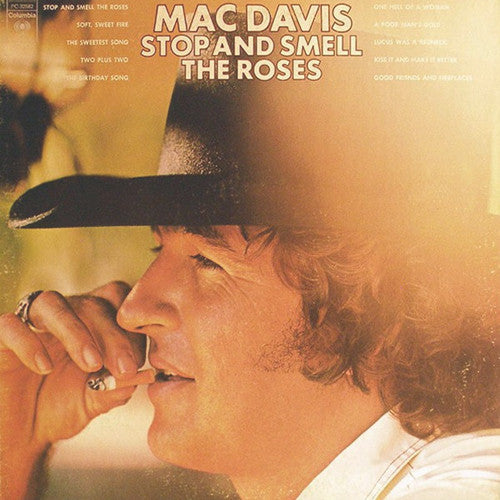 Mac Davis Stop and Smell The Roses - vinyl LP