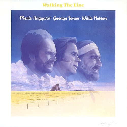 Merle Haggard George Jones Willie Nelson Walking The Line - vinyl LP