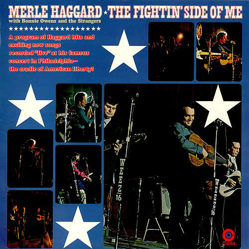 Merle Haggard with Bonnie Owens and The Strangers The Fightin' Side of Me - vinyl LP