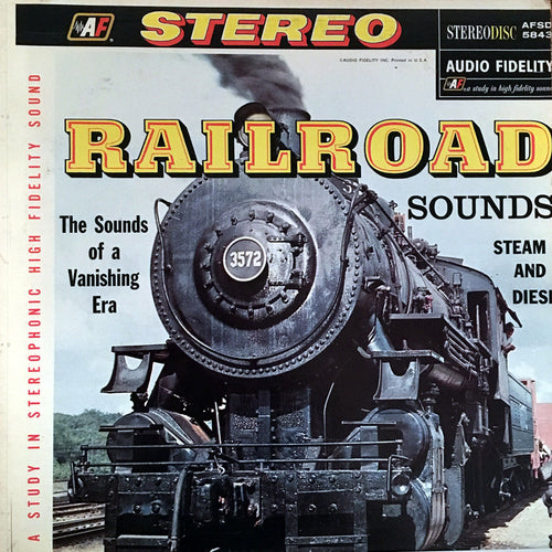 Railroad Sounds Steam and Diesel - vinyl LP