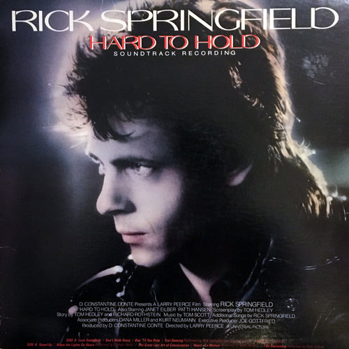 Rick Springfield Hard To Hold Sountrack Recording - vinyl LP