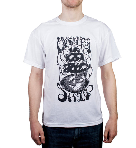 Mystery Ship white t-shirt