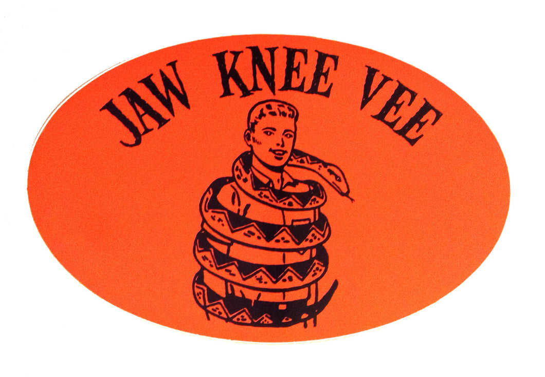 Jaw Knee Vee  Snake Boy sticker