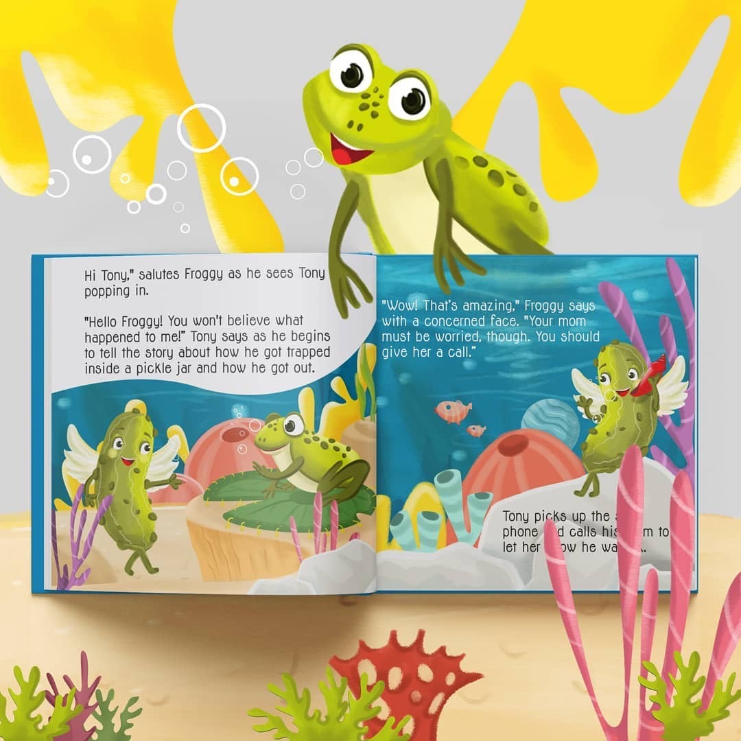Hard Cover - Book 2 The Wacky Adventures of Tony The Pickle Under The Sea (incl. Shipping)