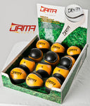 Size 4 Sliotar - Black and Amber
