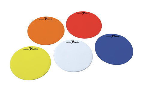 Precision Training Multi Colour Round Marker Discs - Set of 10