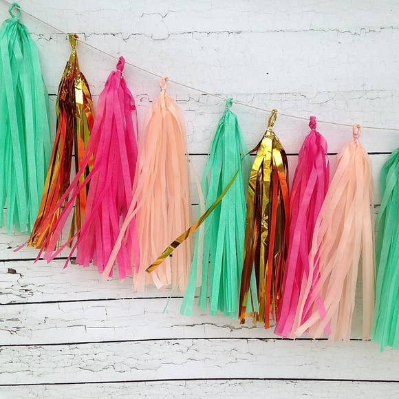 buy peach carnival kit tassel garland