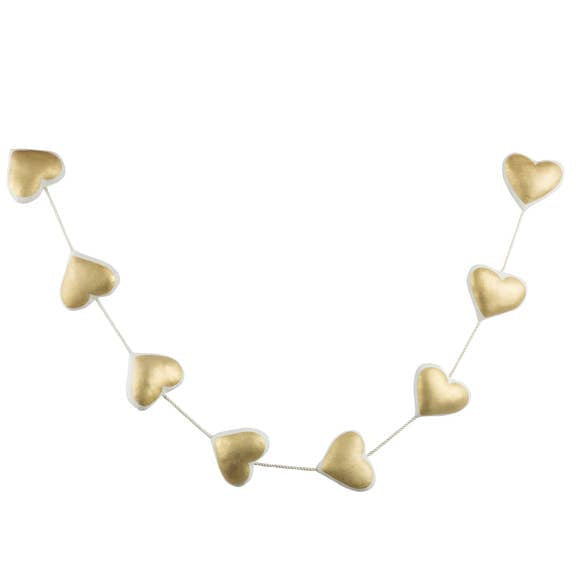 buy heart garland gold