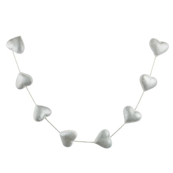 buy heart garland silver